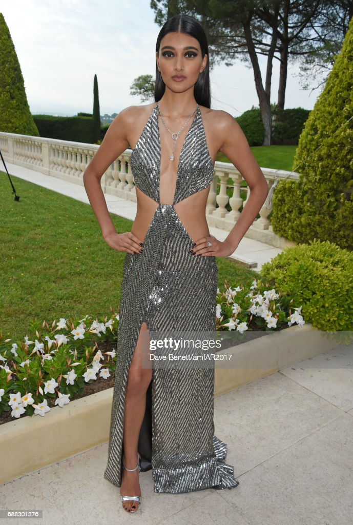 Neelam Gill arrives at the amfAR Gala Cannes 2017 at Hotel du Cap-Eden-Roc on May 25, 2017 in Cap d'Antibes, France.