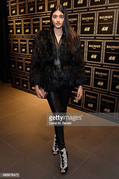 Neelam Gill attends the Balmain X HM Collection Launch Party on November 4 2015 in London England