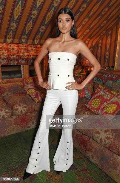 Neelam Gill attends The Fashion Awards 2017 nominees party in partnership with Swarovski at 5 Hertford Street on October 23 2017 in London England