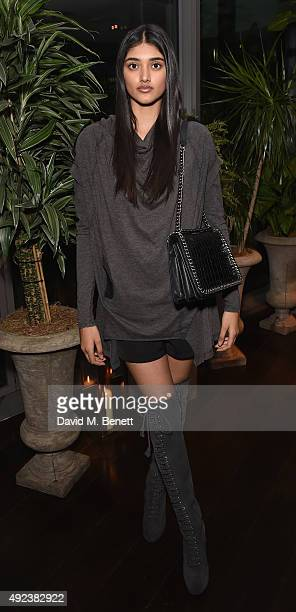 Neelam Gill attends the launch event for Sony technology 'Made for Bond' featuring the RX100 IV camera and Xperia Z5 at the Mondrian Hotel on October...