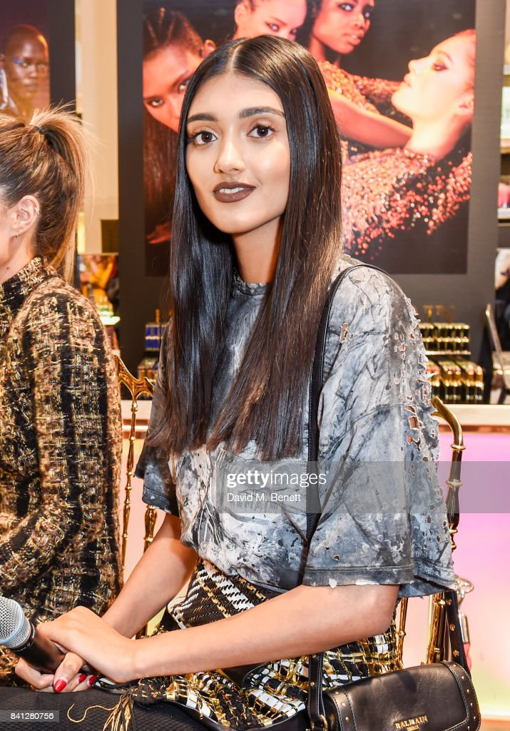 Neelam Gill attends the launch of the L'Oreal Paris x Balmain Paris collection lipstick at Harvey Nichols on August 31, 2017 in London, England.