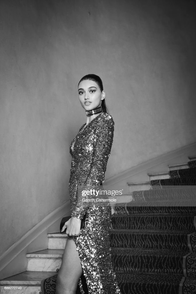 Neelam Gill departs the Martinez Hotel on May 24, 2017 in Cannes, France.