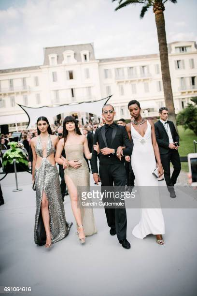 Neelam Gill Kristina Bazan and Maria Borges attend the amfAR Gala Cannes 2017 at Hotel du CapEdenRoc on May 25 2017 in Cap d'Antibes France