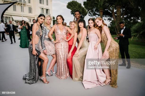 Neelam Gill Lara Stone Eva Longoria Doutzen Kroes Maria Borges Kristina Bazan Barbara Palvin and Alexina Graham attend the amfAR Gala Cannes 2017 at...