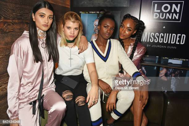 Neelam Gill Sofia Richie Leomie Anderson and Jourdan Dunn attend the Lon Dunn Missguided launch event hosted by Jourdan Dunn at The London EDITION on...