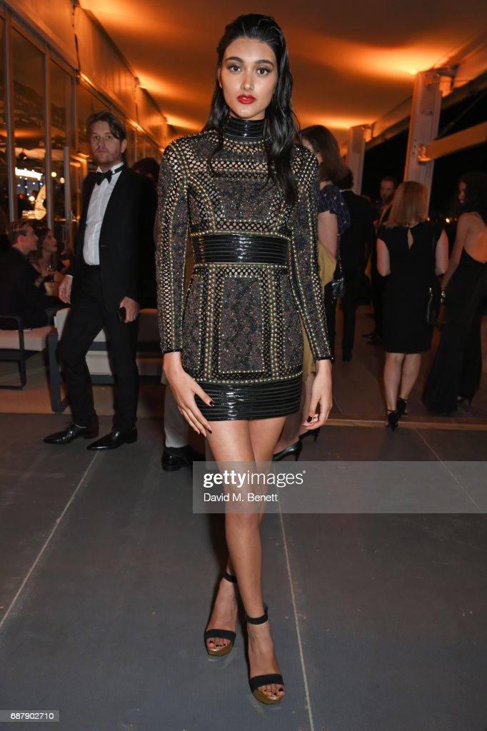 Neelam Gill, UK Spokesmodel for L'Oreal Paris, attends the L'Oreal Paris Cinema Club party, celebrating L'Oreal's 20th anniversary as the official beauty partner of the Cannes Film Festival, at the Martinez Hotel Beach on May 24, 2017 in Cannes, France.