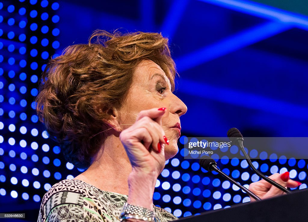 Neele Kroes attends the kickoff of Startup Fest Europe on May 24 2016 in Amsterdam The Netherlands The event facilitates matchmaking between...