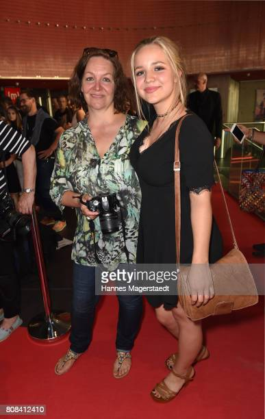 Neele Marie Nickl and her mother Heike Nickl during the 'Das Pubertier' Premiere at Mathaeser Filmpalast on July 4 2017 in Munich Germany