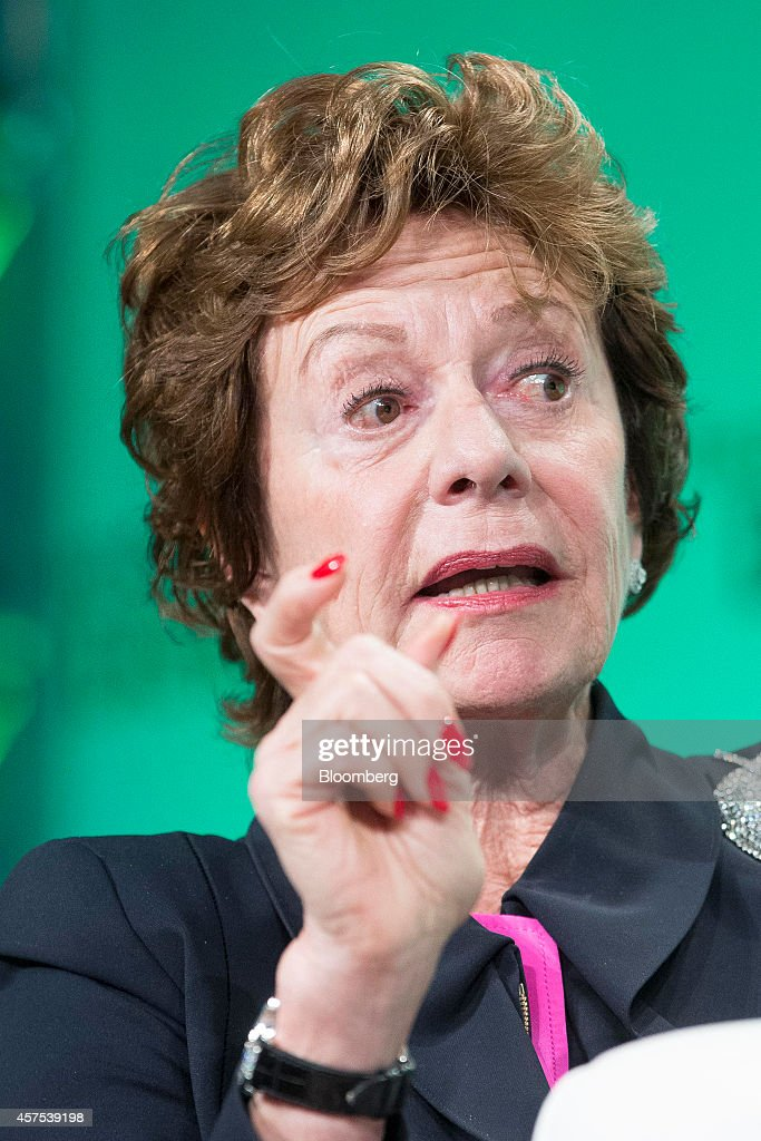 <a gi-track='captionPersonalityLinkClicked' href=/galleries/search?phrase=Neelie+Kroes&family=editorial&specificpeople=754723 ng-click='$event.stopPropagation()'>Neelie Kroes</a>, member of the European Commission in charge of the development of online markets, speaks during a panel session at the Disrupt Europe 2014 conference in London, U.K., on Monday, Oct. 20, 2014. The TechCrunch event features representatives from global start-up companies involved in industries including medical diagnostics, enterprise mobile tools, and financial technology. Photographer: Jason Alden/Bloomberg via Getty Images
