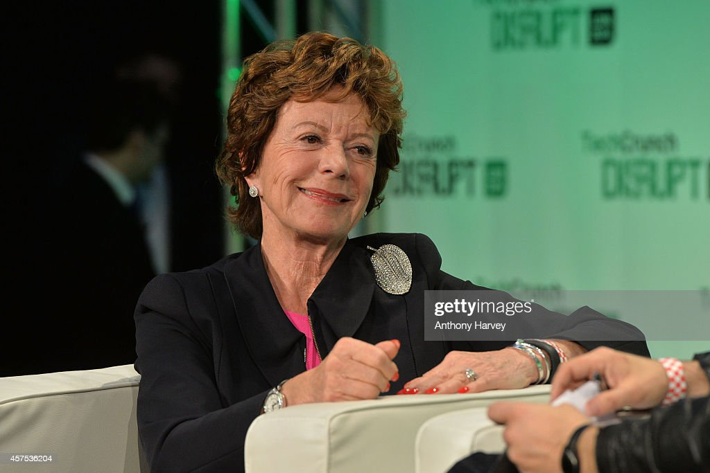 <a gi-track='captionPersonalityLinkClicked' href=/galleries/search?phrase=Neelie+Kroes&family=editorial&specificpeople=754723 ng-click='$event.stopPropagation()'>Neelie Kroes</a>, Vice President of the European Commission on stage during the 2014 TechCrunch Disrupt Europe/London at The Old Billingsgate on October 20, 2014 in London, England.