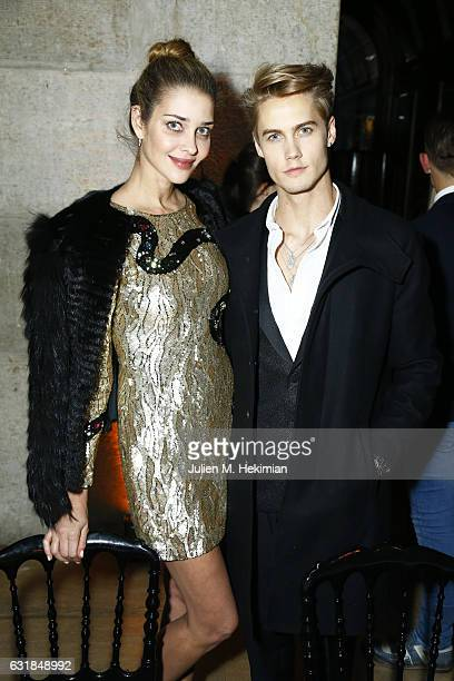 Neels Visser and Ana Beatriz Barros attend the Montblanc Gala Dinner At Brasserie Des Halles as part of the SIHH on January 16 2017 in Geneva...