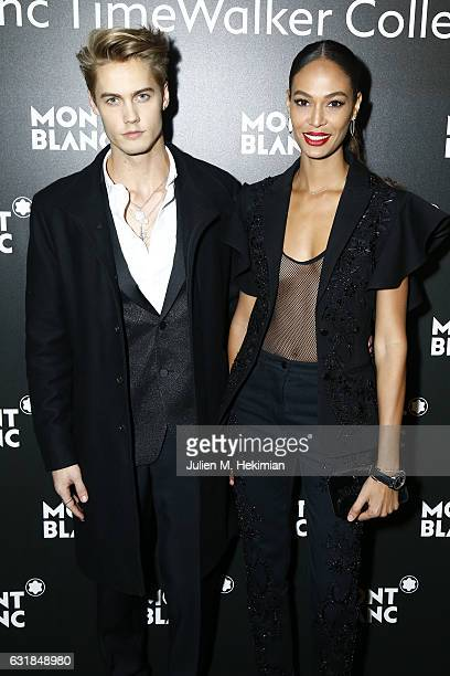 Neels Visser and Joan Smalls attend the Montblanc Gala Dinner At Brasserie Des Halles as part of the SIHH on January 16 2017 in Geneva Switzerland