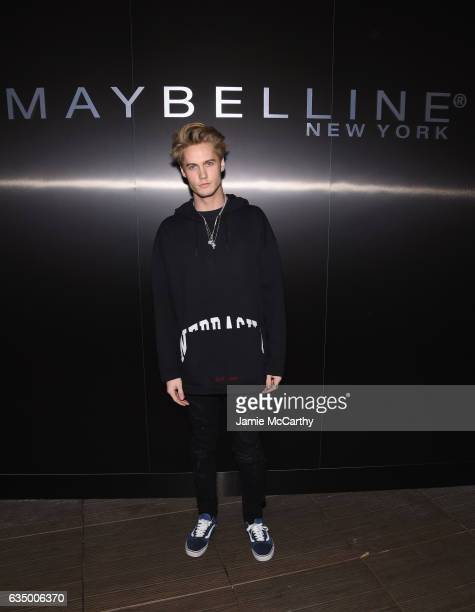 Neels Visser attends Maybelline NYFW Welcome Party at PHD Terrace at Dream Midtown on February 12 2017 in New York City