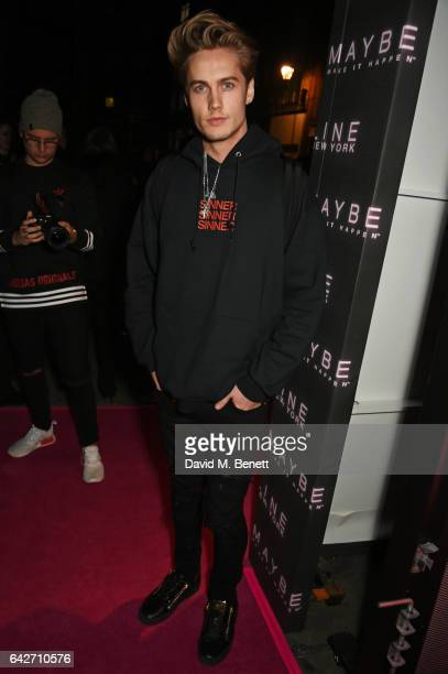 Neels Visser attends Maybelline's Bring On The Night London Fashion Week party at The Scotch of St James on February 18 2017 in London England