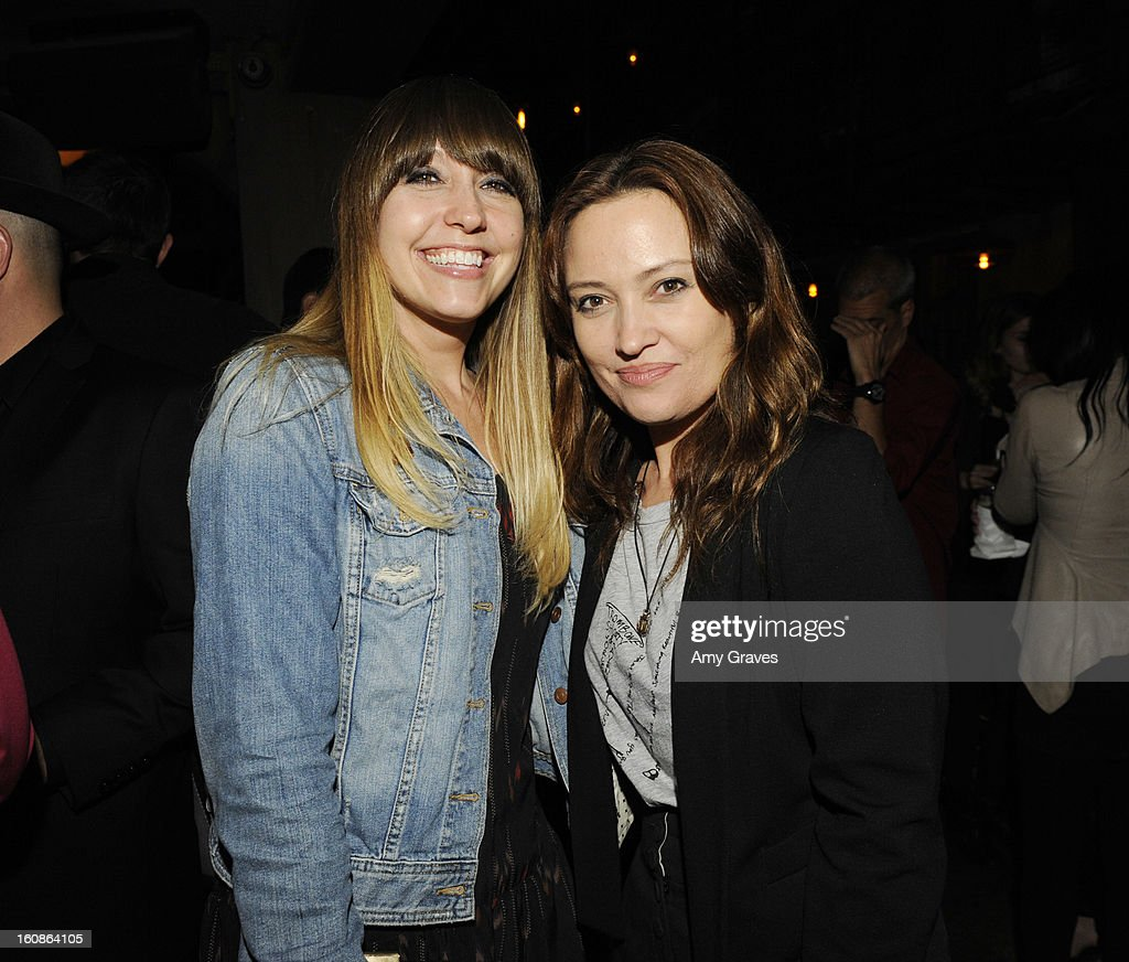 Neely Jenkins and Caroline Rothwell attend the GRAMMY Label Launch Party at Harvard And Stone on February 6, 2013 in Hollywood, California.