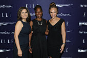Neera Tanden Chirlaine McCray and Melissa Harris Perry attends a reception hosted by ELLE EditorinChief Robbie Myers and Center for American Progress...