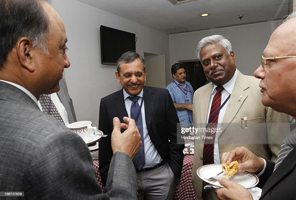 'NEW DELHI, INDIA- SEPTEMBER 6: ( L TO Right ) Neeraj Kumar Delhi police Commissioner , A.P. Singh Director of CBI , Ranjit Sinha DG of ITBP and others at the DGPs/IGPs Conference at Vigyan Bhawan on September 6, 2012 in New Delhi, India. (Photo by Arvind Yadav/Hindustan Times via Getty Images)'