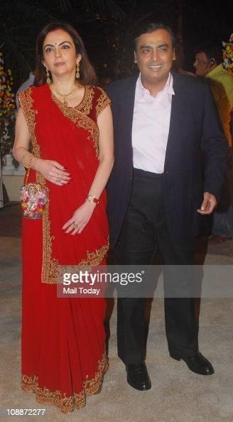 Neeta Ambani and Mukesh Ambani at Imran Khan and Avantika Malik's wedding reception party which was organised by Aamir Khan and Kiran Rao at Taj...