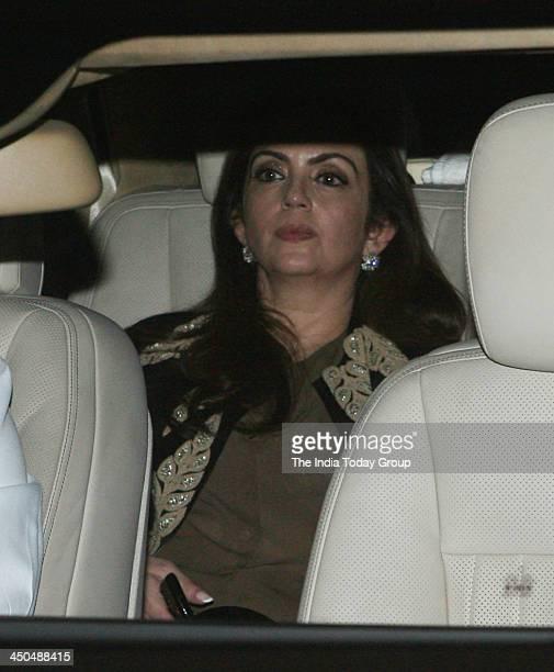 Neeta Ambani arrives for Sachin Tendulkars farewell party in Mumbai