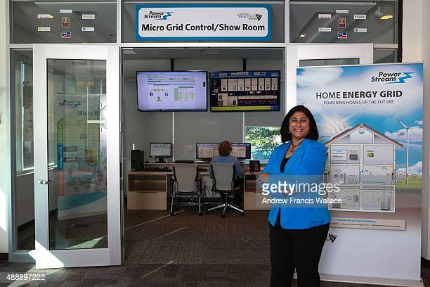 Neetika Sathe VP of smart grid technologies at utility PowerStream poses at the company's offices in Vaughan September 16 2015 Sathe is launching a...