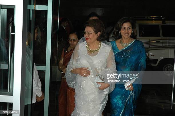 Neetu Singh with Krishna Kapoor wife of Raj Kapoor