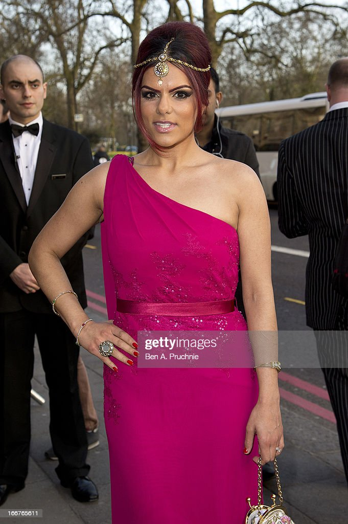 Neev Spencer attends The Asian Awards at Grosvenor House, on April 16, 2013 in London, England.
