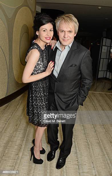 Nefer Suvio and Nick Rhodes attend a dinner at Nobu Berkeley celebrating American artist George Condo after his exhibition openings at both Simon Lee...