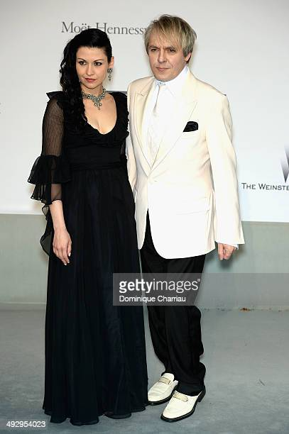 Nefer Suvio and Nick Rhodes attend amfAR's 21st Cinema Against AIDS Gala Presented By WORLDVIEW BOLD FILMS And BVLGARI at Hotel du CapEdenRoc on May...
