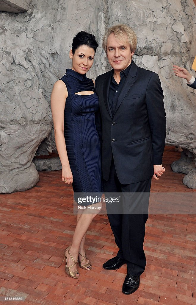 Nefer Suvio and <a gi-track='captionPersonalityLinkClicked' href=/galleries/search?phrase=Nick+Rhodes&family=editorial&specificpeople=206732 ng-click='$event.stopPropagation()'>Nick Rhodes</a> attends the VIP opening of The Serpentine Sackler Gallery & Autumn Exhibitions at The Serpentine Sackler Gallery on September 25, 2013 in London, England.