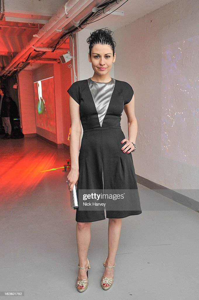 Nefer Suvio attends the launch of Dinos Chapman's album 'Luftbobler' at The Vinyl Factory Gallery on February 27, 2013 in London, England.
