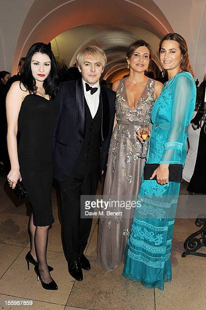 Nefer Suvio Nick Rhodes Ella Krasner and Yasmin Le Bon wearing Star Diamond attend the Place For Peace dinner cohosted by Ella Krasner and Forest...