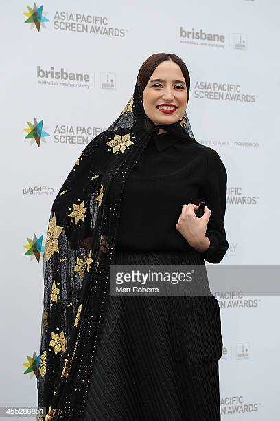 Negar Javaherian arrives at the Asia Pacific Screen Awards at Brisbane City Hall on December 12 2013 in Brisbane Australia