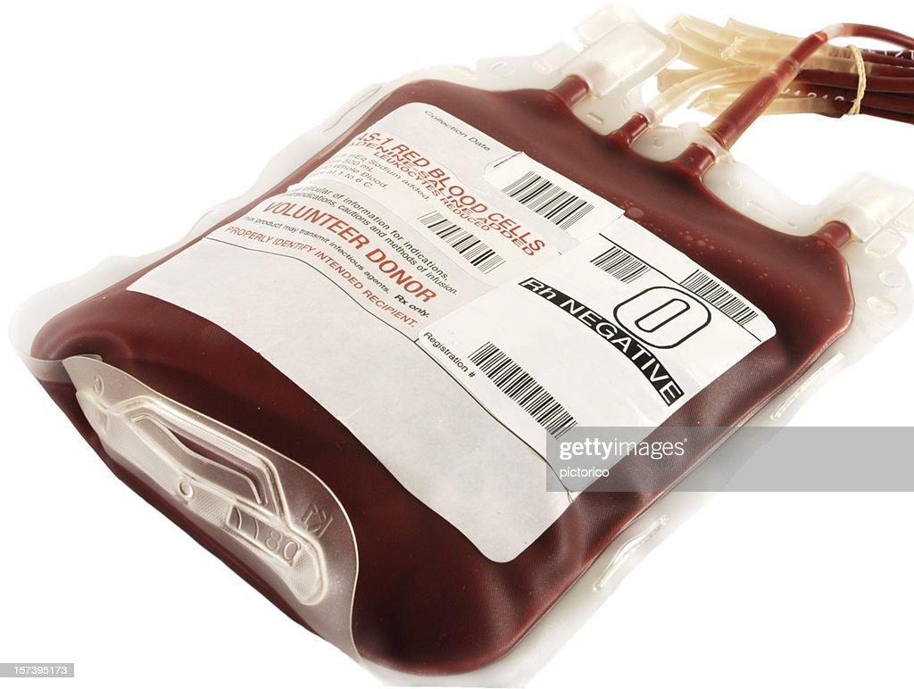 O negative blood bag