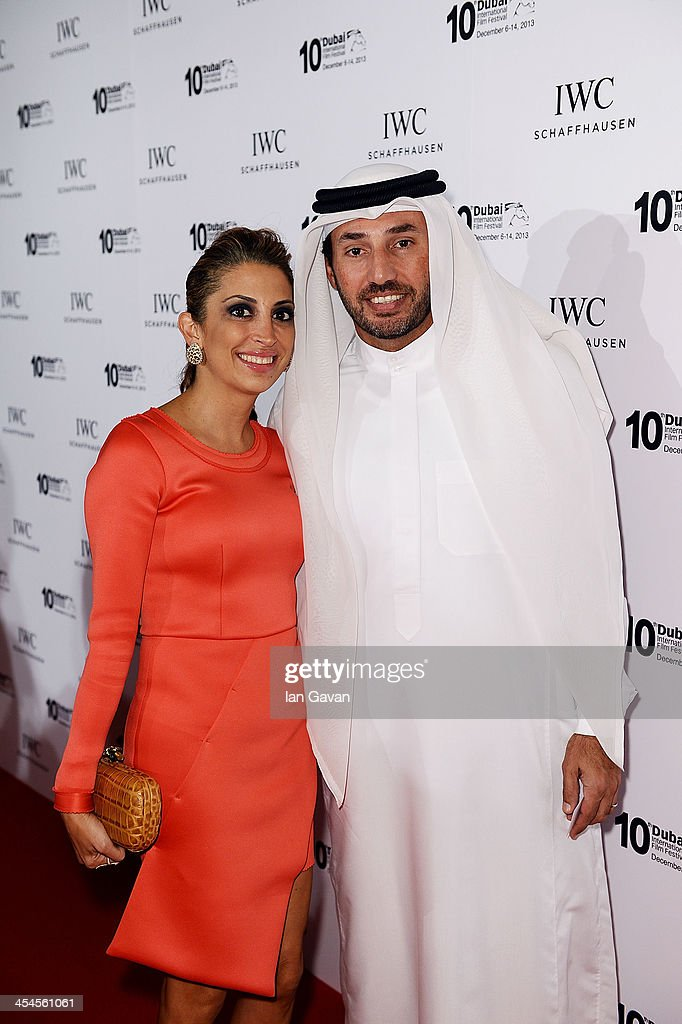 Negin Bin Dasmal and Salem Bin Dasmal attend the IWC Schaffhausen For The Love Of Cinema IWC Filmmakers Award 2013 at One And Only Royal Mirage on December 7, 2013 in Dubai, United Arab Emirates.