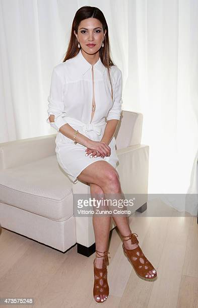 Negin Mirsalehi attends Kering Talks 'Women In Motion' at Kering suite during The 68th Annual Cannes Film Festival on May 15 2015 in Cannes France