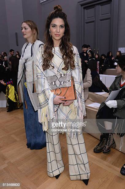 Negin Mirsalehi attends the Chloe show as part of the Paris Fashion Week Womenswear Fall/Winter 2016/2017 on March 3 2016 in Paris France