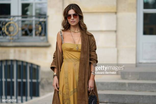 Negin Mirsalehi attends the Christian Dior show as part of the Paris Fashion Week Womenswear Spring/Summer 2018 on September 26 2017 in Paris France
