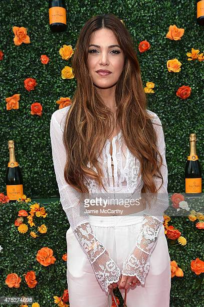 Negin Mirsalehi attends the EighthAnnual Veuve Clicquot Polo Classic at Liberty State Park on May 30 2015 in Jersey City New Jersey