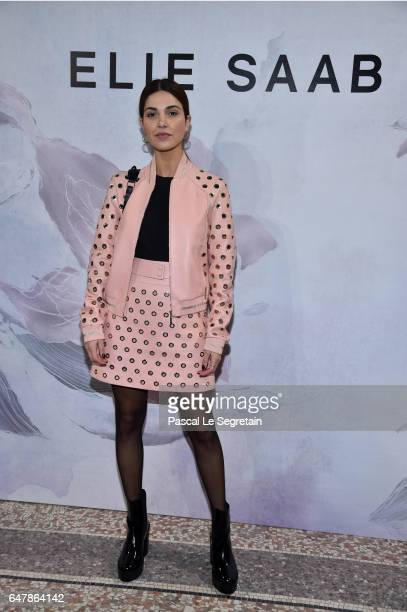 Negin Mirsalehi attends the Elie Saab show as part of the Paris Fashion Week Womenswear Fall/Winter 2017/2018 on March 4 2017 in Paris France