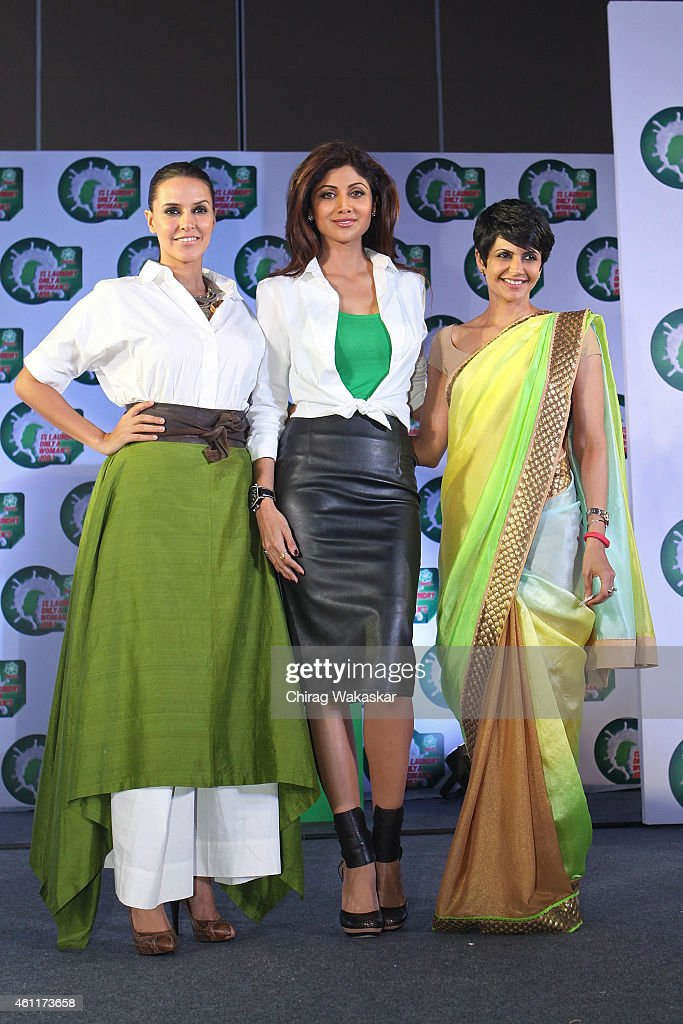 <a gi-track='captionPersonalityLinkClicked' href=/galleries/search?phrase=Neha+Dhupia&family=editorial&specificpeople=2195000 ng-click='$event.stopPropagation()'>Neha Dhupia</a>, Shilpa Shetty Kundra and <a gi-track='captionPersonalityLinkClicked' href=/galleries/search?phrase=Mandira+Bedi&family=editorial&specificpeople=703799 ng-click='$event.stopPropagation()'>Mandira Bedi</a> attend P&G's press conference at Hotel Palladium on January 8, 2015 in Mumbai, India.