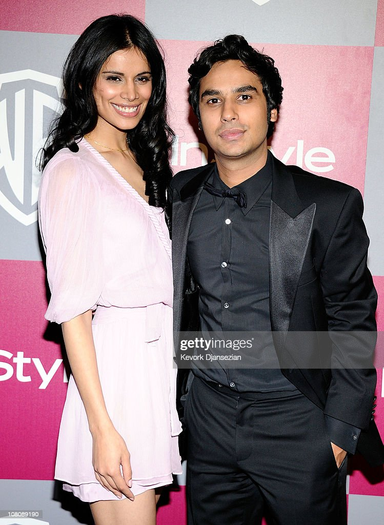 Neha Kapur (L) and Kunal Nayyar arrive at the 2011 InStyle And Warner Bros. 68th Annual Golden Globe Awards post-party held at The Beverly Hilton hotel on January 16, 2011 in Beverly Hills, California.