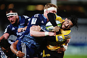 Nehe MilnerSkudder of the Hurricanes charges forward during the round 15 Super Rugby match between the Blues and the Hurricanes at Eden Park on May...