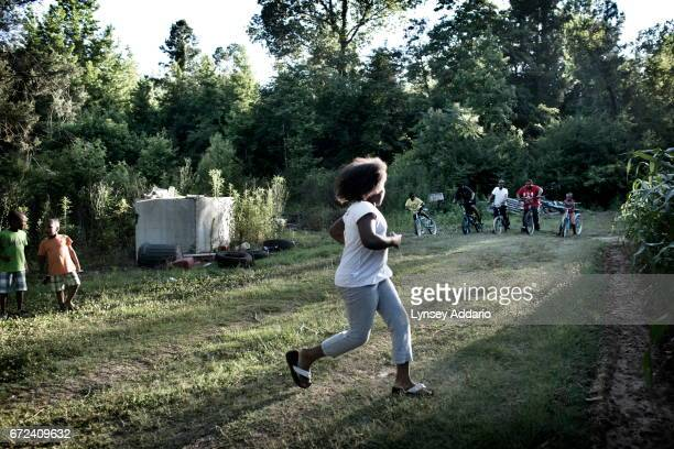 Neighborhood children play in Holmes County at the edge of the Mississippi Delta May 31 2012 Holmes county is known as 'the fattest county in...