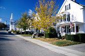 Neighborhood street, Cape Cod, Massachusetts
