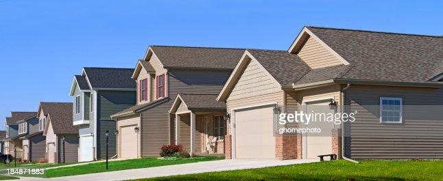 Quartier de maisons de la rue