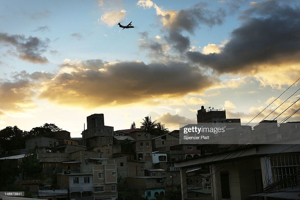 A neighborhood with heavy gang violence is viewed on July 20 2012 in Tegucigalpa Honduras Honduras now has the highest per capita murder rate in the...