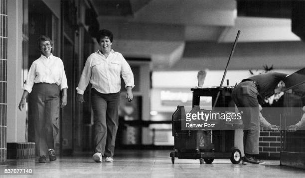 Neighbors Rae Bird left and Jean Lind like to get an early start walking inside the Southwest Plaza mall before it opens Credit The Denver Post