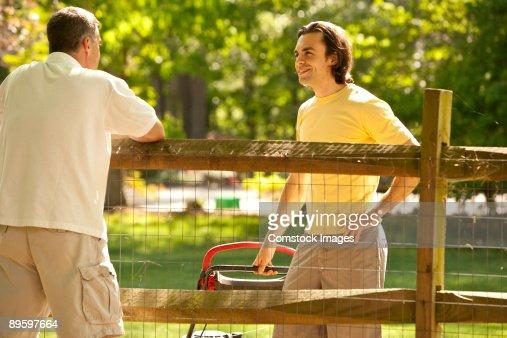 neighbors talking