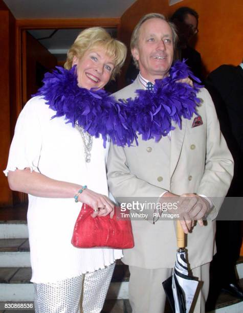 Neil and Christine Hamilton at a catwalk fashion show in aid of Save the Children at Chinawhite