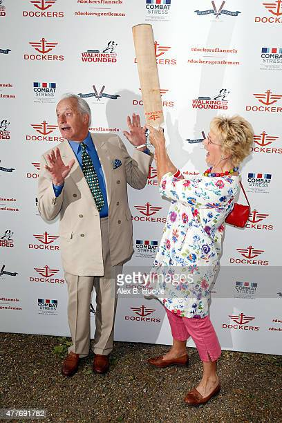 Neil and Christine Hamilton attend the Dockers Flannels For Heroes Charity Cricket Match and Garden Party at the Bruton Gardens Royal Hospital...